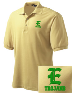 Edgewood High School Trojans Embroidered Tall Men's Silk Touch Polo