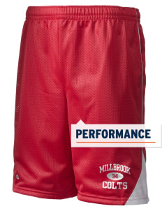 "Millbrook Elementary School Colts Holloway Men's Possession Performance Shorts, 9"" Inseam"