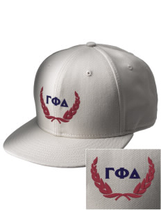 Gamma Phi Delta  Embroidered New Era Flat Bill Snapback Cap