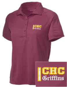 Chestnut Hill College Griffins Embroidered Women's Polytech Mesh Insert Polo