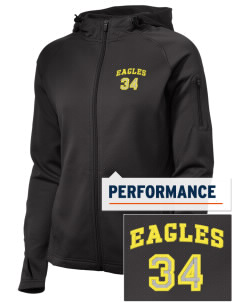 NIA Community Public Charter School Eagles Embroidered Women's Tech Fleece Full-Zip Hooded Jacket
