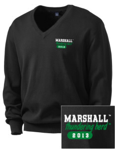 Marshall University Thundering Herd Embroidered Men's V-Neck Sweater
