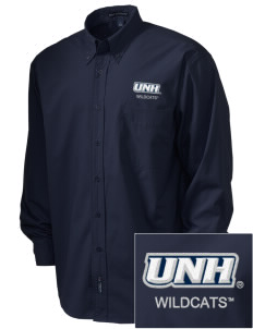 University of New Hampshire Wildcats  Embroidered Men's Easy Care, Soil Resistant Shirt
