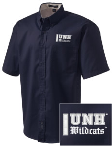 University of New Hampshire Wildcats Embroidered Men's Easy Care Shirt