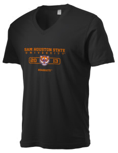 Sam Houston State University Bearkats Alternative Men's 3.7 oz Basic V-Neck T-Shirt