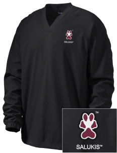 Southern Illinois University Salukis Embroidered Men's V-Neck Raglan Wind Shirt