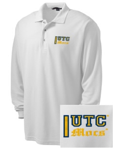 University of Tennessee at Chattanooga Mocs Embroidered Men's Silk Touch Long-Sleeve Polo