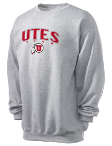 University of Utah Utes Men's 7.8 oz Lightweight Crewneck Sweatshirt