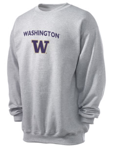 University of Washington Huskies Men's 7.8 oz Lightweight Crewneck Sweatshirt
