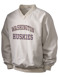 University of Washington Huskies Holloway Men's Wind Shirt with Tackle Twill