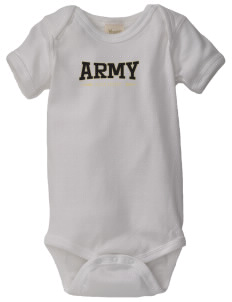 United States Military Academy Black Knights  Baby Organic Lap Shoulder Creeper