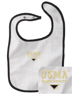 United States Military Academy Black Knights Embroidered Baby Snap Terry Bib
