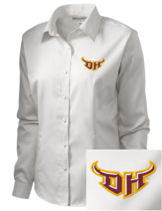 California State University, Dominguez Hills Toros  Embroidered Women's Long Sleeve Non-Iron Twill Shirt