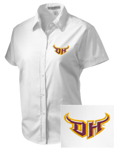 California State University, Dominguez Hills Toros Embroidered Women's Short Sleeve Easy Care, Soil Resistant Shirt