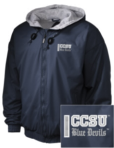Central Connecticut State University Blue Devils Embroidered Holloway Men's Hooded Jacket