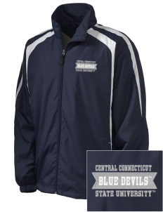 Central Connecticut State University Blue Devils Embroidered Men's Colorblock Raglan Jacket