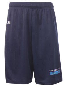 "Saint Peter's University Peacocks  Russell Deluxe Mesh Shorts, 10"" Inseam"