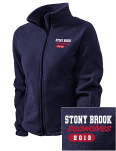 Stony Brook University Seawolves Embroidered Women's Fleece Full-Zip Jacket