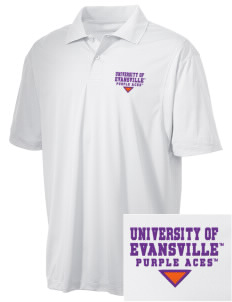 University of Evansville Purple Aces Embroidered Men's Micro Pique Polo