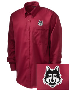 Loyola University Chicago Ramblers  Embroidered Men's Nailhead Non-Iron Button-Down