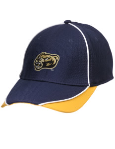 Oakland University Golden Grizzlies Embroidered New Era Contrast Piped Performance Cap