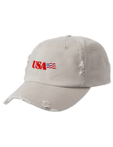U.S. Marine Corps Embroidered Distressed Cap