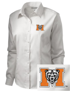 Mercer University Bears  Embroidered Women's Long Sleeve Non-Iron Twill Shirt
