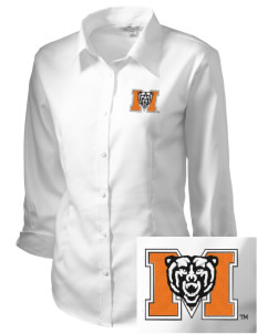 Mercer University Bears Embroidered Women's 3/4 Sleeve Non-Iron