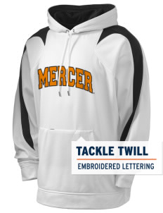 Mercer University Bears Holloway Men's Sports Fleece Hooded Sweatshirt with Tackle Twill