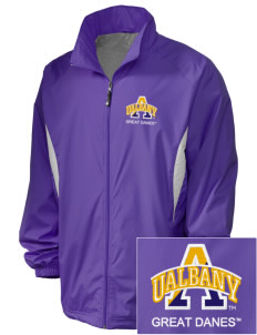 University at Albany State University of New York Great Danes Embroidered Holloway Men's Full-Zip Jacket