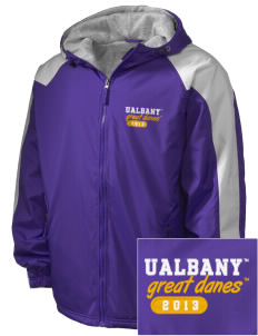 University at Albany State University of New York Great Danes Embroidered Holloway Men's Weather Resistant Full-Zip Jacket