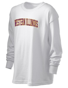 Western Illinois University Leathernecks Kid's 6.1 oz Long Sleeve Ultra Cotton T-Shirt