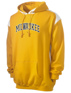 University of Wisconsin-Milwaukee Panthers Men's Pullover Hooded Sweatshirt with Contrast Color