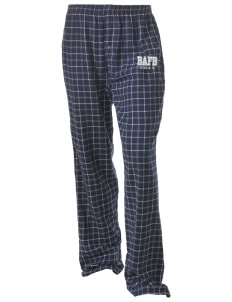 Bellows AFB Unisex Button-Fly Collegiate Flannel Pant with Distressed Applique