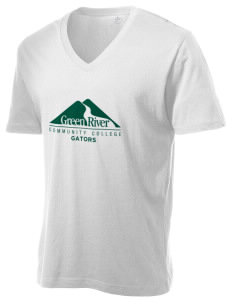 Green River Community College Gators Alternative Men's 3.7 oz Basic V-Neck T-Shirt