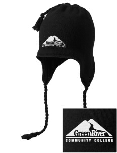 Green River Community College Gators Embroidered Knit Hat with Earflaps