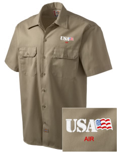 Connecticut Air National Guard Embroidered Dickies Men's Short-Sleeve Workshirt