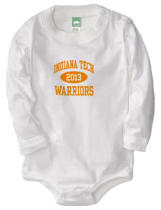 Indiana Tech Warriors  Baby Long Sleeve 1-Piece with Shoulder Snaps