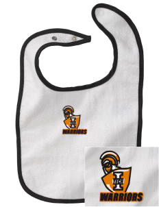 Indiana Tech Warriors Embroidered Baby Snap Terry Bib