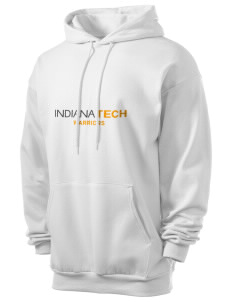 Indiana Tech Warriors Men's 7.8 oz Lightweight Hooded Sweatshirt