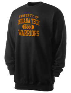 Indiana Tech Warriors Men's 7.8 oz Lightweight Crewneck Sweatshirt
