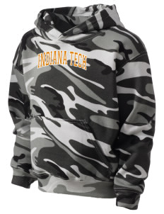 Indiana Tech Warriors Kid's Camo Hooded Sweatshirt