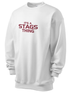 Claremont-Mudd-Scripps Men's Athletics Stags Men's 7.8 oz Lightweight Crewneck Sweatshirt