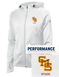 Claremont-Mudd-Scripps Men's Athletics Stags Embroidered Women's Tech Fleece Full-Zip Hooded Jacket