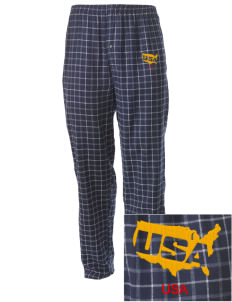 U.S. Navy Embroidered Men's Button-Fly Collegiate Flannel Pant