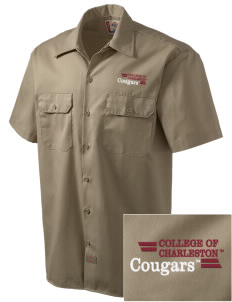 College of Charleston Cougars Embroidered Dickies Men's Short-Sleeve Workshirt