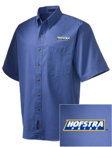 Hofstra University Pride Embroidered Men's Short Sleeve Twill Shirt