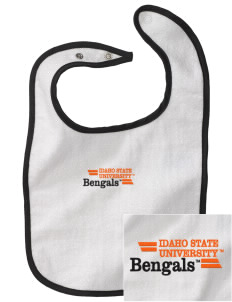 Idaho State University Bengals Embroidered Baby Snap Terry Bib