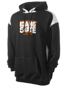 Idaho State University Bengals Men's Pullover Hooded Sweatshirt with Contrast Color