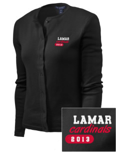Lamar University Cardinals Embroidered Women's Cardigan Sweater